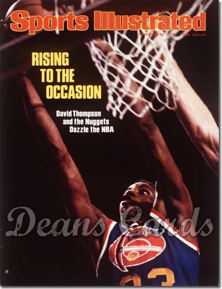 1976 Sports Illustrated - With Label   November 15  -  David Thompson (Denver Nuggets)