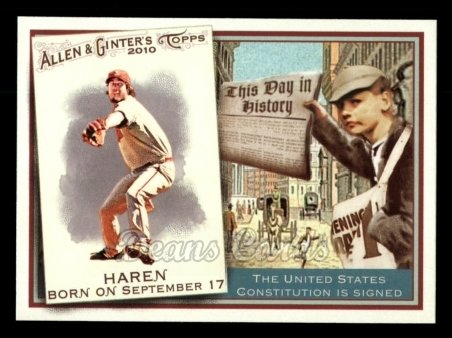 2010 Topps Allen & Ginter This Day In History #23 TDH  -  Dan Haren This Day in History
