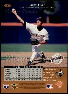 1996 Upper Deck #187  Andy Ashby