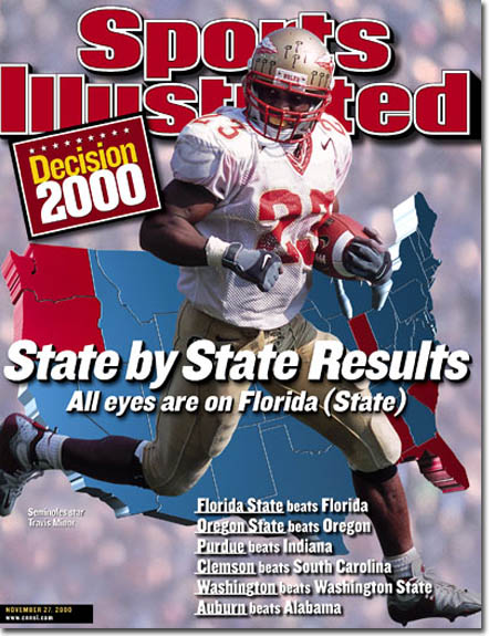 2000 Sports Illustrated - With Label   November 27  -  Travis Minor (Florida State Seminoles) (Regional Issue)