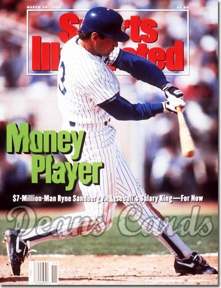 1992 Sports Illustrated - With Label   March 16  -  Ryne Sandberg Chicago Cubs