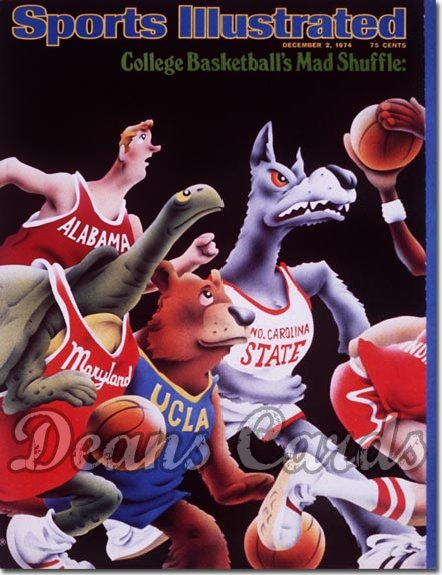 1974 Sports Illustrated - With Label   December 2  -  College Basketball Issue