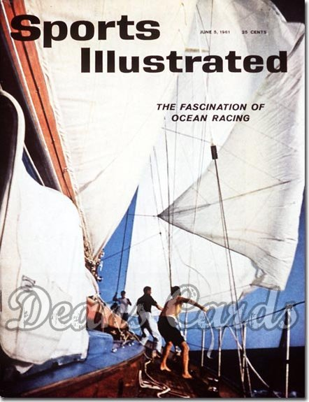 1961 Sports Illustrated - With Label   June 5  -  Yacht Boat Sailing