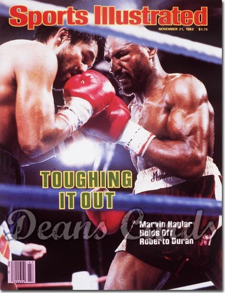 1983 Sports Illustrated - With Label   November 21  -  Marvin Hagler/Roberto Duran