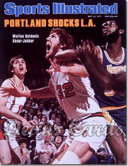 1977 Sports Illustrated - No Label   May 23  -  Bill Walton (Trail Blazers) & Abdul