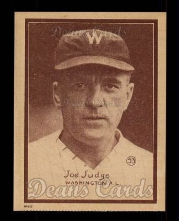 1931 W517 Reprint #53  Joe Judge
