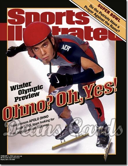 2002 Sports Illustrated   February 4  -  Apolo Anton Ono USA Speed Skating