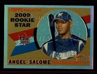 2009 Topps Heritage Chrome Refractor #77 CHR Angel Salome