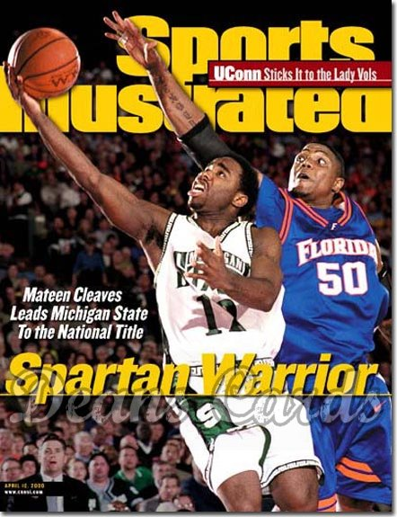 2000 Sports Illustrated   April 10  -  Mateen Cleaves Michigan State Spartans