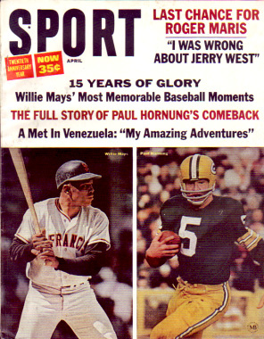 1966 Sport Magazine   -  Paul Hornung / Willie Mays  April