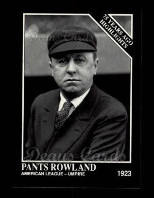 1992 Conlon #485   -  Pants Rowland 1917 Highlights