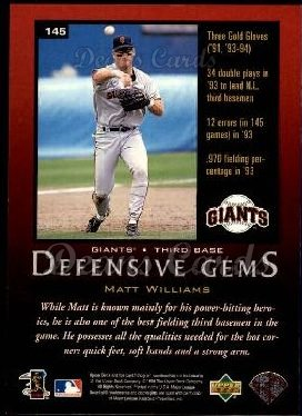1997 Upper Deck #145   -  Matt Williams Define The Game
