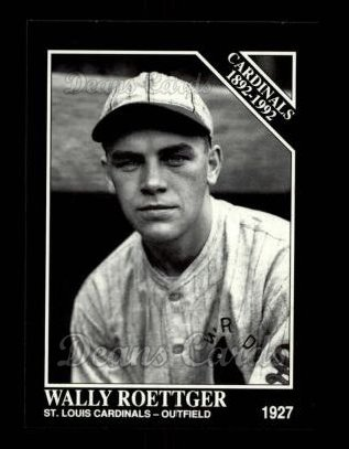 1992 Conlon #653   -  Wally Roettger Cardinals 1982-