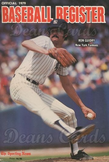 1979 Baseball Register   -  Ron Guidry  Issue