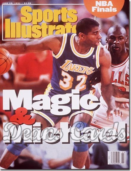 1991 Sports Illustrated   June 10  -  Michael Jordan (Chicago Bulls) Magic Johnson (LA Lakers)