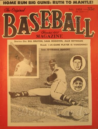 1953 Baseball Magazine    July