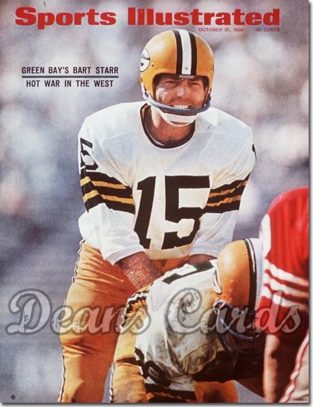 1966 Sports Illustrated - With Label   October 31  -  Bart Starr Green Bay Packers