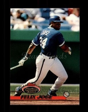 1993 Topps Stadium Club #653  Felix Jose
