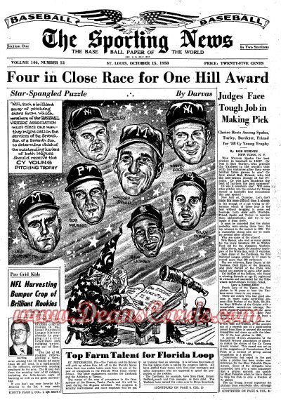 1958 The Sporting News   October 15  - World Series coverage