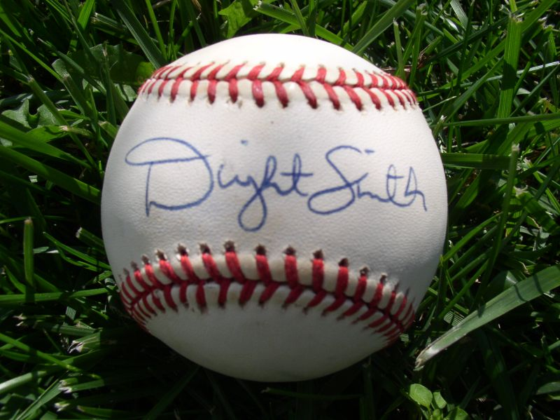 Dwight Smith B Autographed Ball
