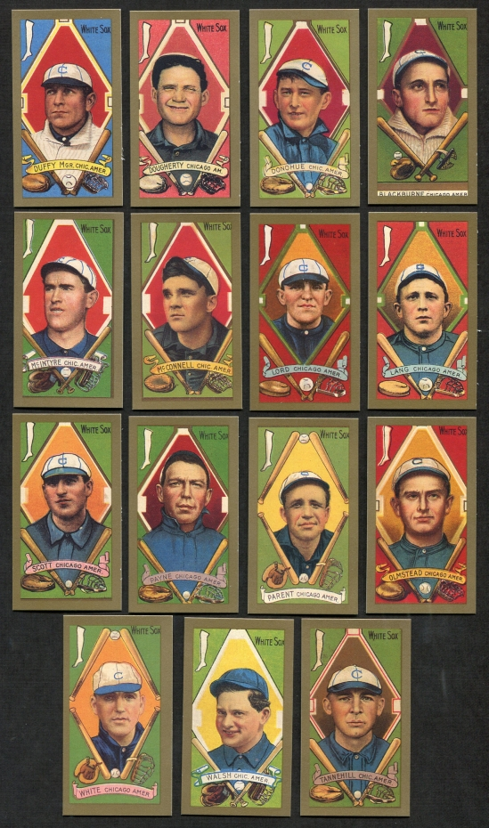 1911 T205 Reprint    T205 Gold Border REPRINT Chicago White Sox Team Set