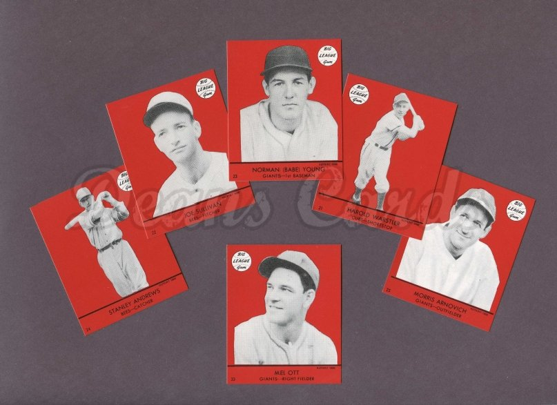 1941 Goudey Reprint    Goudey Red Reprint Complete Set