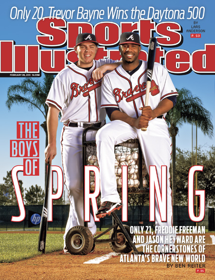 2011 Sports Illustrated - With Label   February 28  -  Jason Heyward / Freddie Freeman / Atlanta Braves Spring Training