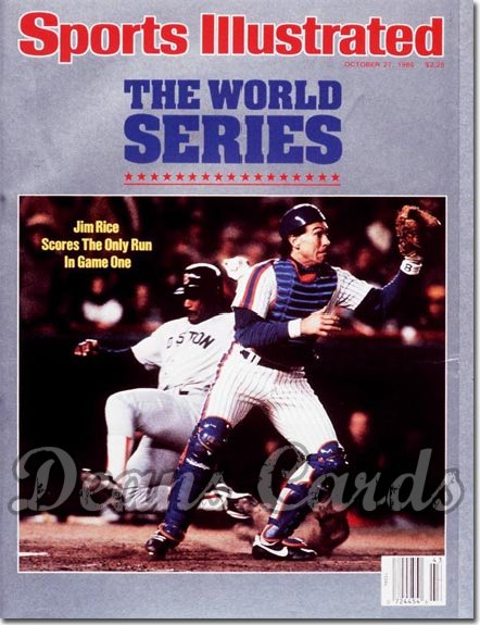 1986 Sports Illustrated - With Label   October 27  -  Gary Carter (New York Mets) Jim Rice (Boston Red Sox)