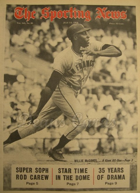 1968 The Sporting News   July 13  - Willie McCovey / All-Star Game Issue