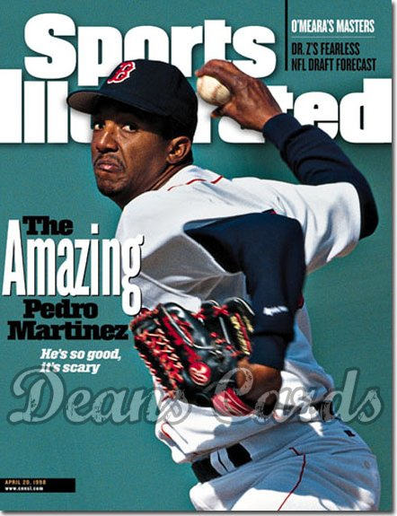 1998 Sports Illustrated - With Label   April 20  -  Pedro Martinez Boston Red Sox