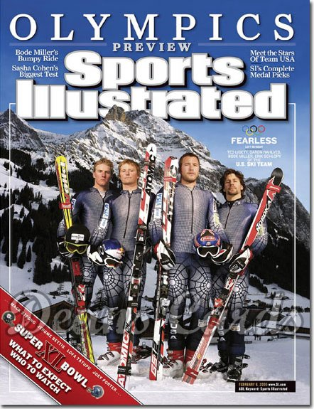2006 Sports Illustrated   February 6  -  USA Olympic Ski Skiing Team