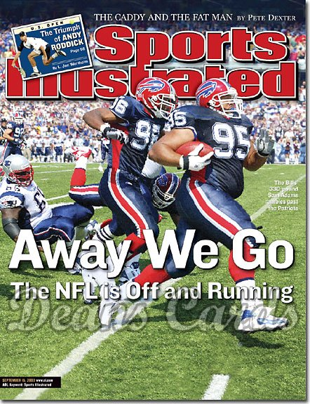 2003 Sports Illustrated   September 15  -  Sam Adams & Jeff Posey (Buffalo Bills)