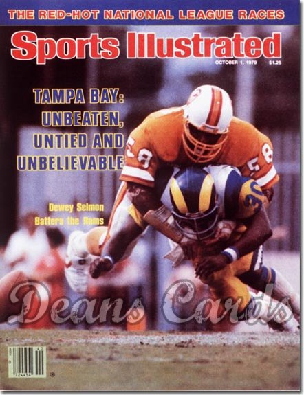 1979 Sports Illustrated - With Label   October 1  -  Dewey Selmon (Tampa Bay Buccaneers)
