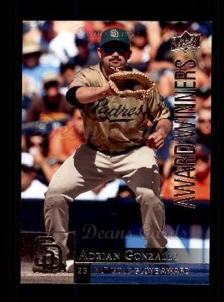 2009 Upper Deck #960   -  Adrian Gonzalez Award Winners