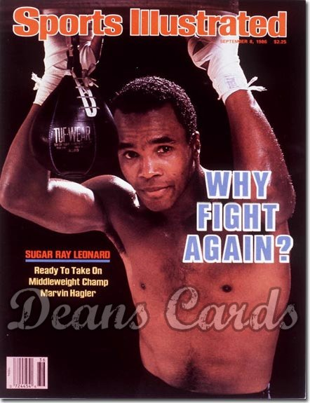 1986 Sports Illustrated - With Label   September 8  -  Sugar Ray Leonard