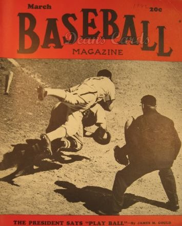 1942 Baseball Magazine    March