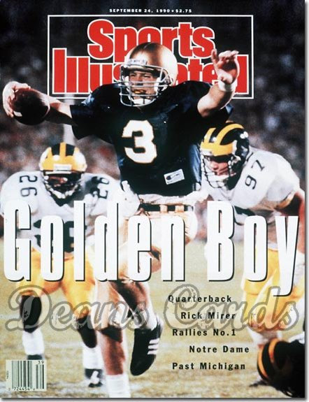 1990 Sports Illustrated - With Label   September 24  -  Rick Mirer (Notre Dame Fighting Irish)