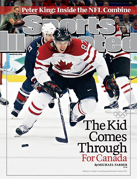 2010 Sports Illustrated - With Label   March 8  -  The Kid Comes Thrudney Crosby