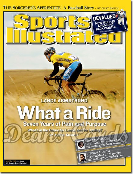 2005 Sports Illustrated   August 1  -  Lance Armstrong Wins 7th Straight Tour De France