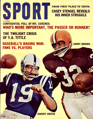 1962 Sport Magazine   -  Johnny Unitas / Jim Brown  December