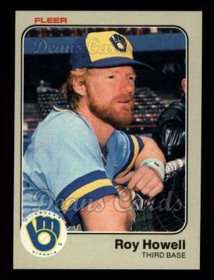 1983 Fleer #36  Roy Howell