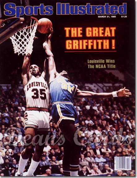 1980 Sports Illustrated - With Label   March 31  -  Darrell Griffith (Louisville Cardinals)