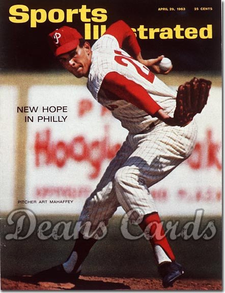 1963 Sports Illustrated - With Label   April 29  -  Art Mahaffey Philadelphia Phillies