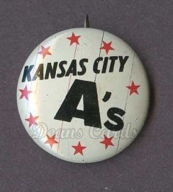 1961 Cranes Potato Chip Pin #9   Kansas City A's