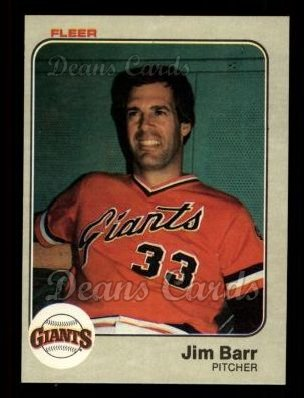 1983 Fleer #252  Jim Barr