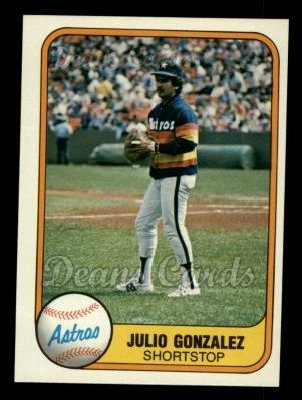 1981 Fleer #73  Julio Gonzalez