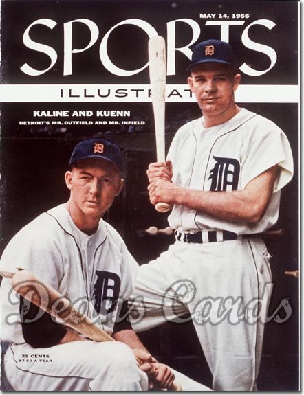 1956 Sports Illustrated - With Label   May 14  -  Kaline & Kuenn (Detroit Tigers)