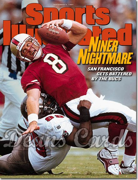 1997 Sports Illustrated - With Label   September 8  -  Steve Young (49ers) & Warren Sapp (Buccaneers) SI