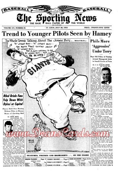 1954 The Sporting News   July 28  - Eddie Stanky / Walt Alston