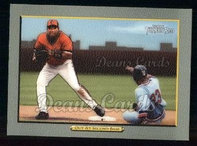 2005 Topps Turkey Red #43   -  Miguel Tejada Out At Second